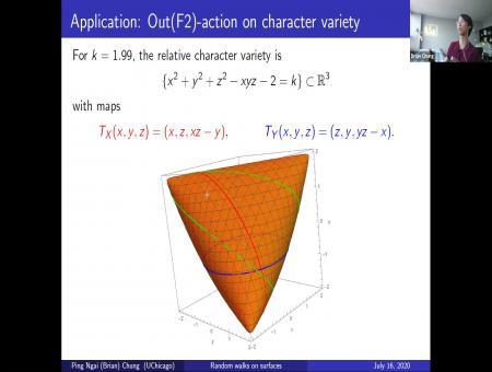 Stationary measure and orbit closure classification for random walks on surfaces