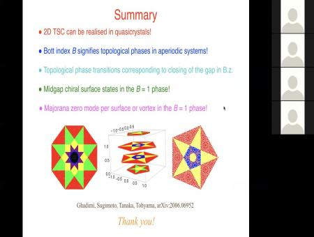 Topological superconductivity in quasicrystals
